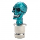 Cool Skull Head Style Car Cigarette Lighter - Blue (DC 12V)