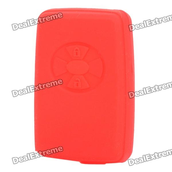 Protective Silicone Case for Toyota / Lexus 2-Button Remote Key - Red