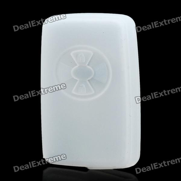 Protective Silicone Case for Toyota / Lexus 2-Button Remote Key - Translucent White