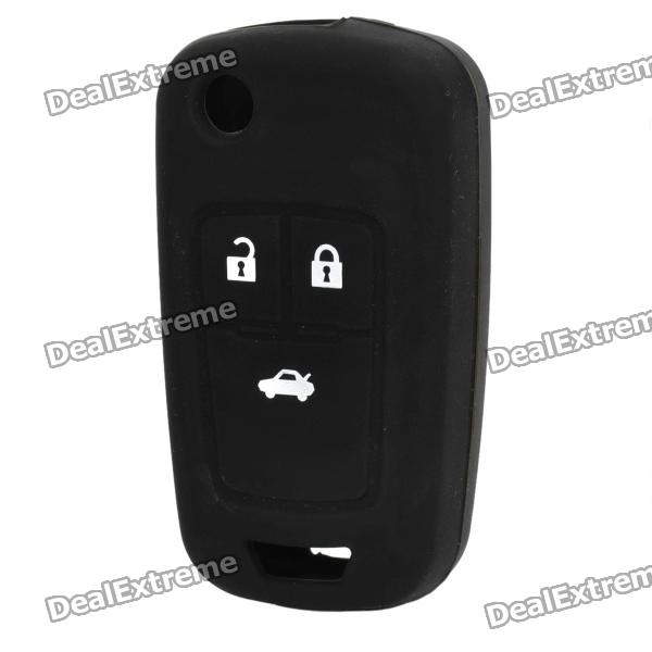Protective Silicone Case for Chevrolet Cruze 3-Button Remote Key - Black рюкзак case logic 17 3 prevailer black prev217blk mid