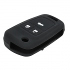 Protective Silicone Case for Chevrolet Cruze 3-Button Remote Key - Black