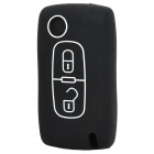 Protective Silicone Case for Peugeot 2-Button Remote Key - Black
