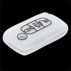Protective Silicone Case for Peugeot 3-Button Remote Key - Translucent White