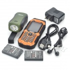 "RESWAY T99 Ultra-Rugged GSM Cell Phone w/ 2.0"" LCD, Quad-Band, Dual SIM and FM - Orange (1GB TF)"