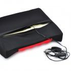Car Cigarette Powered Electric Massage Lumbar Cushion Pad - Black + Red