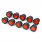 3-Pin DIY Rock Switch Modules w/ Red LED Indicator - Black (10-Pack)