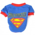 Cute Superman Dog Style Dog Apparel Pet Clothes - Blue + Red