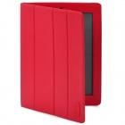 Ultra Thin Protective PU Leather Smart Cover Case for iPad 2 - Red