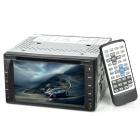 "6.2 ""Touchscreen 2 DIN Car DVD Player w / GPS / Bluetooth / FM / AM / Analog-TV - Schwarz"