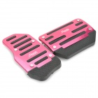 Universal Non-Slip Aluminum Alloy Pedal Set for Vehicle Brake/Accelerator - Deep Pink (2-Piece)