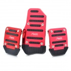 Car Aluminum Alloy Non-slip Pedal Pad Cover - Rose