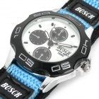 H8302 Fashion Sports Wrist Watch for Children - Blue + Black + White (1 x SR626SW)