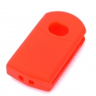 Protective Soft Silicone Case Cover for Mazda 2-Button Car Remote Key - Transparent