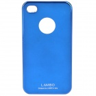 Protective PC Back Case w/ Screen Guard for Iphone 4 - Mirror Dark Blue