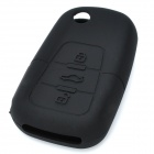 Protective Soft Silicone Case Cover for Buick Roewe 3-Button Car Remote Key - Black