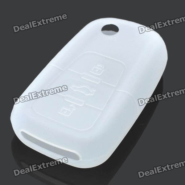 Protective Soft Silicone Case Cover for Buick Roewe 3-Button Car Remote Key - Transparent