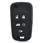 Protective Silicone Case for Buick 4-Button Remote Key - Black