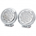 2.4W 15-LED 460~470nm Blue Light Car Luxury Decorative Lamp / Warning Light (DC 12V / Pair)