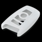 Protective Silicone Case for BMW 3-Key Smart Key - White