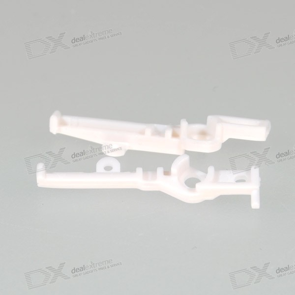 Repair Parts Replacement L+R Shoulder Button Supports for PSP Slim/2000 (White 2-Piece Set) repair parts replacement bus wires for psp 3000 3 piece set