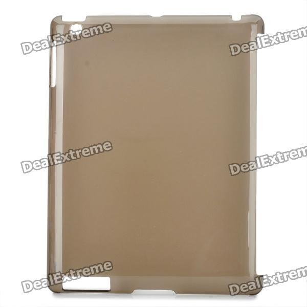 Simple Design Protective PVC Back Case for The New Ipad - Transparent Grey