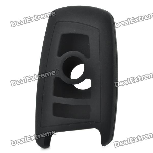 Durable Soft Silicon Rubber Case for BMW 3 Buttons Remote Key (Black)