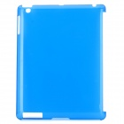 Simple Design Protective PVC Back Case for The New Ipad - Transparent Blue