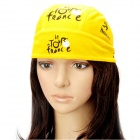 Cycling Bicycle Bike Outdoor Sports Head Scarf Cap Hat - Yellow + Black