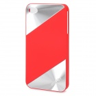 Protective Plastic Back Case for iPhone 4 / 4S - Red + Silver