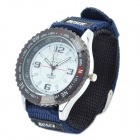 Nylon Band Sports Waterproof Wristwatch - Deep Blue + Black (1 x SR626SW)