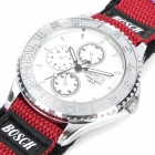 Sports Nylon Band Quartz Wrist Watch - Red (1 x SR626SW)
