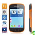 "C5 Android 2.3 WCDMA-TV Smart Phone w / 4,0 ""kapazitiven Bildschirm, Dual-SIM-, Wi-Fi und GPS - Orange"