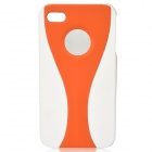 Protective TPU Back Case for Iphone 4 / 4S - Orange + White