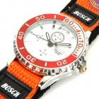 Children's Fashion Nylon Watchband Sports Quartz Wrist Watch - White + Red + Orange (1 x SR626SW)