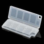 10-in-1 Memory Card Storage Case for PS Vita - Transparent White