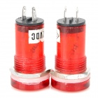 DIY 2-Pin Red Indicator Lights (DC 12V / Pair)