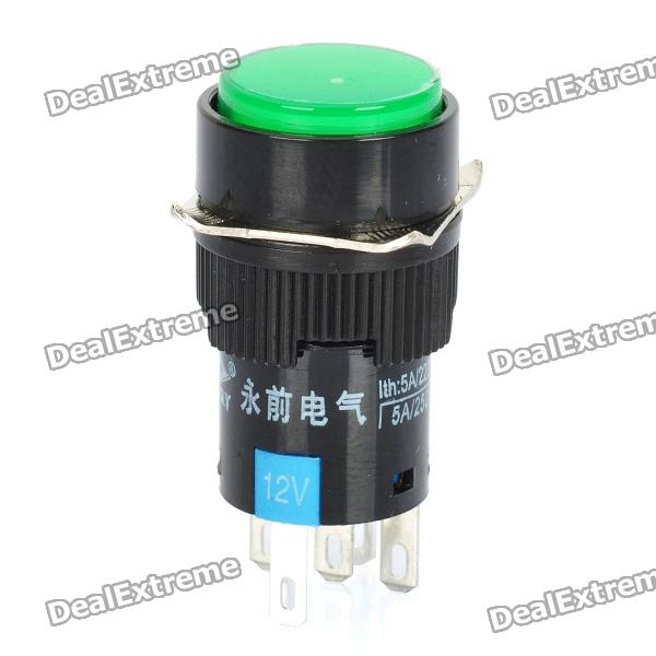 все цены на DIY 15mm Push Button Switch w/ Green Indicator Light# онлайн