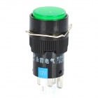 DIY 15mm Push Button Switch w/ Green Indicator Light#