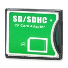 SDHC SD/MMC to CF Type-II Card Adapter