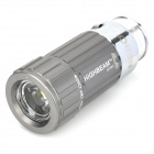 Mini Car Charger Powered Rechargeable 1W 7000K 45-Lumen 1-LED Flashlight - Silver (DC 12V)