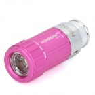 Mini Car Charger Powered Rechargeable 1W 7000K 45-Lumen 1-LED Flashlight - Deep Pink (DC 12V)
