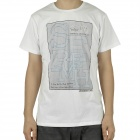 Fashion Short Sleeves Cotton T-Shirt - White (Size-XXL)