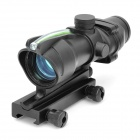 Tactical Fiber Optical Green Dot Sight Scope with Adjustable Gun Mount - Black