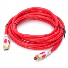 24K Gold-plating 1080P HDMI 1.4 Male to Male Connection Cable - Red (300cm)