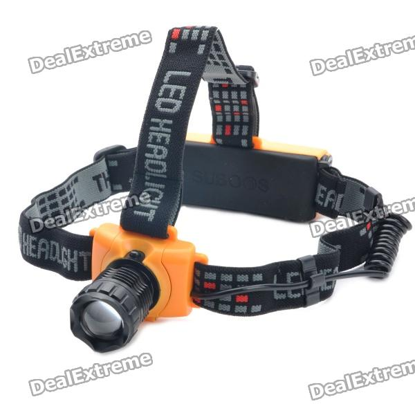 310-Lumen 3-Mode White Zoom LED Headlamp - Black + Yellow (3 x AAA / 1 x 18650)