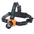 Cree Q5 310-Lumen 3-Mode White Zoom LED Headlamp - Black + Yellow (3 x AAA / 1 x 18650)