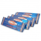Drum Cigarette Tobacco Gummed Rolling Papers (5 x 50 Pieces)