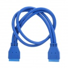 USB 3.0 Mainboard 20-Pin Male to Male Extension Cable - Blue (50cm-Length)