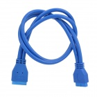 USB 3.0 Housing Motherboard 20-Pin Male to Female Extension Cable - Blue (50cm)