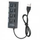 4-Port High Speed USB 2.0 Hub - Black (60cm-Cable Length)